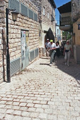 Street in Safed (Zefat), Israel