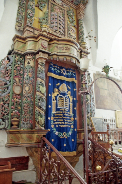 The Ark of the Torah in a synagogue in Safed, Israel.
