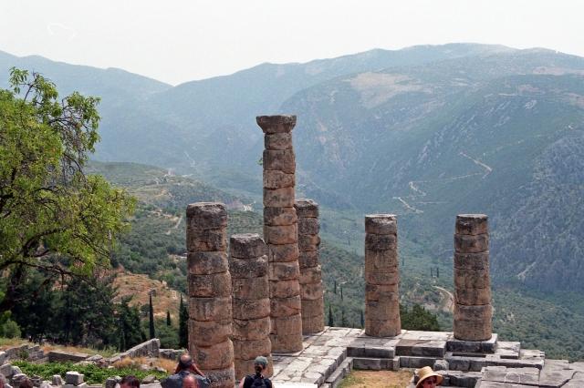 The Temple of Apollo at Delphi, Greece
