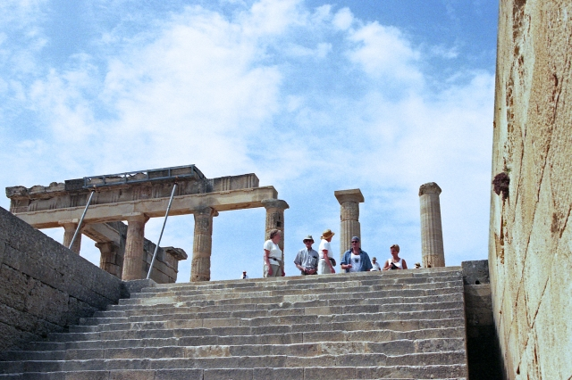 The Temple of Athena at Lindos, Rhodes